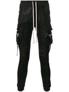 брюки карго со сборкой Rick Owens