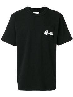 футболка с принтом яблока Sacai