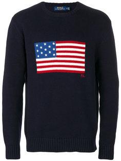 свитер с принтом американского флага Polo Ralph Lauren