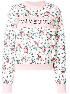 толстовка с цветочным принтом Vivetta