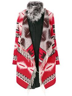 пальто с узором в ацтекском стиле Bazar Deluxe