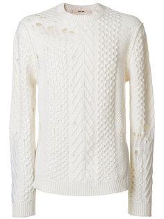 свитер с потертой отделкой Damir Doma