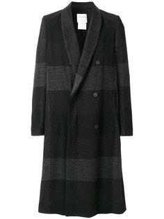 пальто в клетку Stephan Schneider