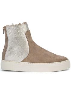 ботинки с панелью металлик Agl