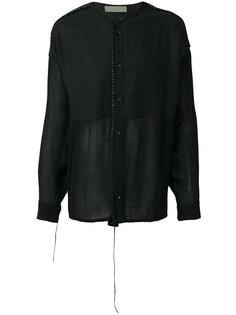 рубашка с контрастными панелями Di Liborio