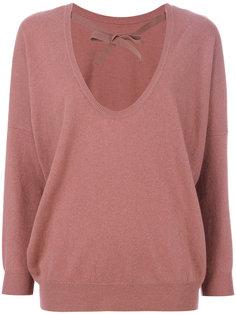 свитер с U-образным вырезом Semicouture