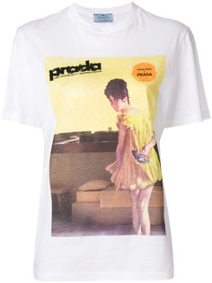 футболка с графическим принтом Prada