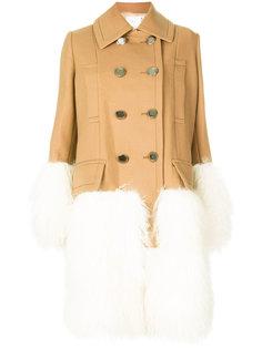 пальто со вставками Mongolian Sacai