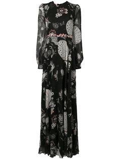 расклешенное платье с принтом Giamba