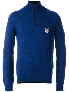 свитер на молнии с заплаткой в виде тигра Kenzo