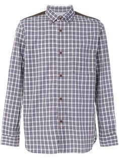 рубашка с нашивками на локтях Junya Watanabe Comme Des Garçons Man