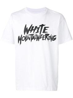 футболка с принтом-логотипом White Mountaineering