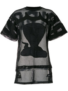 сетчатая футболка с вышивкой poison cobra KTZ