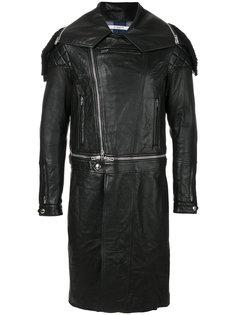 приталенное байкерское пальто Givenchy