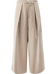 широкие укороченные брюки Edward Crutchley