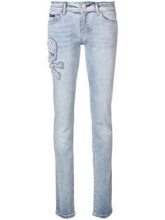 джинсы с вышивкой Chicago Sara Philipp Plein