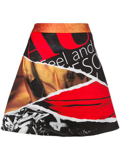 юбка А-силуэта с абстрактным принтом Moschino