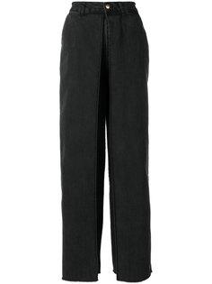 брюки-палаццо с деталью с запахом Aalto