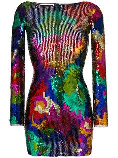 приталенное платье с пайетками Amen Amen.