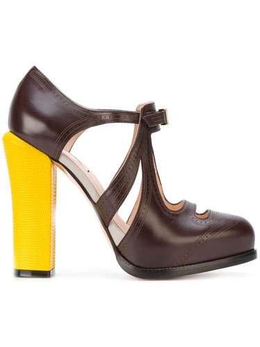 туфли с вырезными деталями Fendi