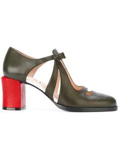 туфли-лодочки с вырезным дизайном Fendi