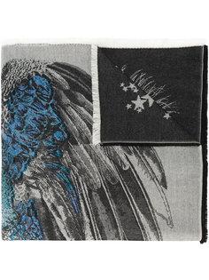 шарф с павлиньим принтом Alexander McQueen