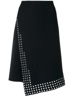 юбка с отделкой люверсами  Paco Rabanne