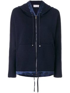 куртка с капюшоном и контрастной окантовкой Moncler