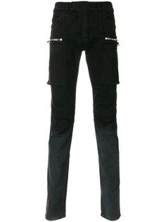 джинсы карго с накладными карманами Balmain