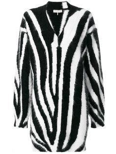 свитер с принтом полосок зебры  Emilio Pucci