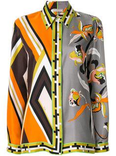 блузка со смешанным принтом Emilio Pucci