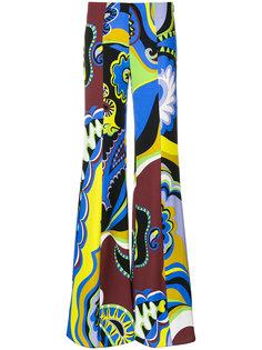 брюки-палаццо с принтом  Emilio Pucci