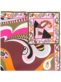 платок с абстрактным принтом Emilio Pucci