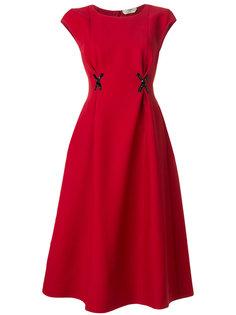 расклешенное платье с аппликацией Fendi