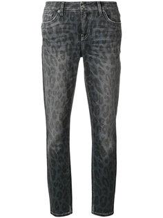 укороченные джинсы Liu с анималистическим принтом Cambio