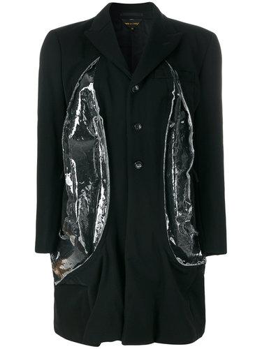 пальто на пуговицах с полупрозрачными вставками  Comme Des Garçons