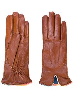 перчатки с контрастной окантовкой Paul Smith