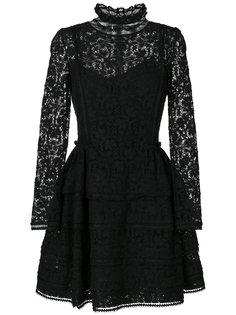 кружевное расклешенное платье с вышивкой  Ermanno Scervino