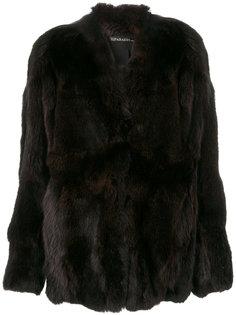 приталенное пальто с мехом  32 Paradis Sprung Frères