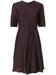 платье с драпированной вставкой Kenzo