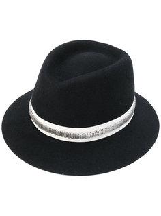 фетровая шляпа с цепочной отделкой Lanvin