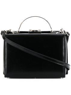 сумка через плечо жесткой формы Mark Cross