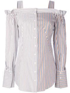 полосатая рубашка с открытыми плечами Dondup