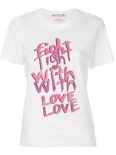 футболка с принтом Motto Comme Des Garçons Girl