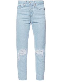прямые джинсы с прорезями на коленях Levis Levis®