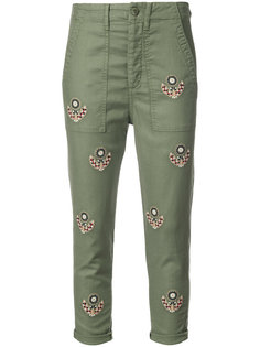 embroidered cropped trousers  The Great