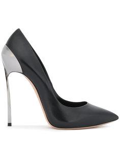 туфли-лодочки на каблуке металлик Casadei