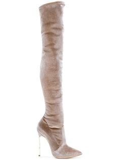 высокие сапоги на шпильке Casadei