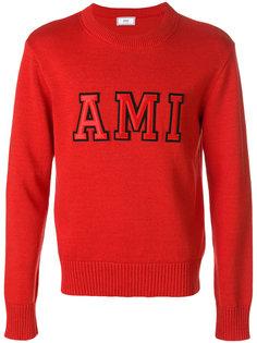 свитер с контрастным логотипом Ami Alexandre Mattiussi