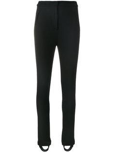 эластичные брюки со штрипками Moncler